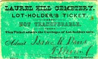 Laurel Hill Admission Ticket